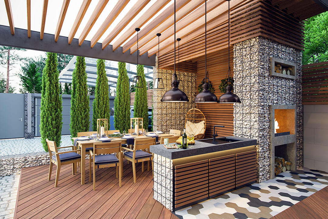 Custom Made Outdoor Kitchen Ideas And Designs What S Right For You Champagne Finish